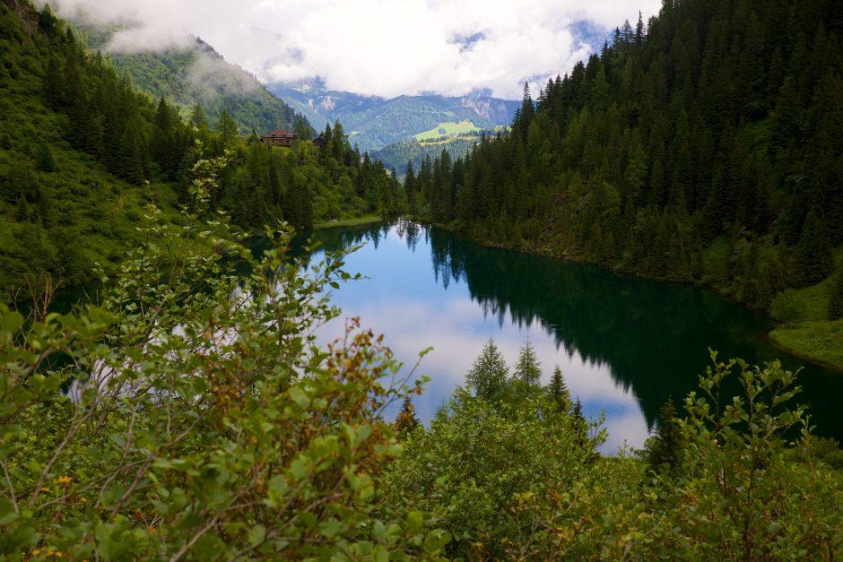 Der Hüttensee in den Schladminger Tauern - ein Wildswimming Paradies