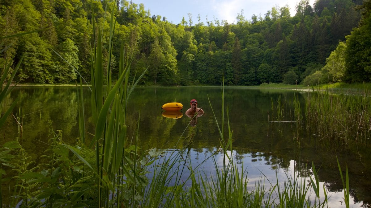 Every Wildswimming comes to an end - even on the beautiful Filbingsee.