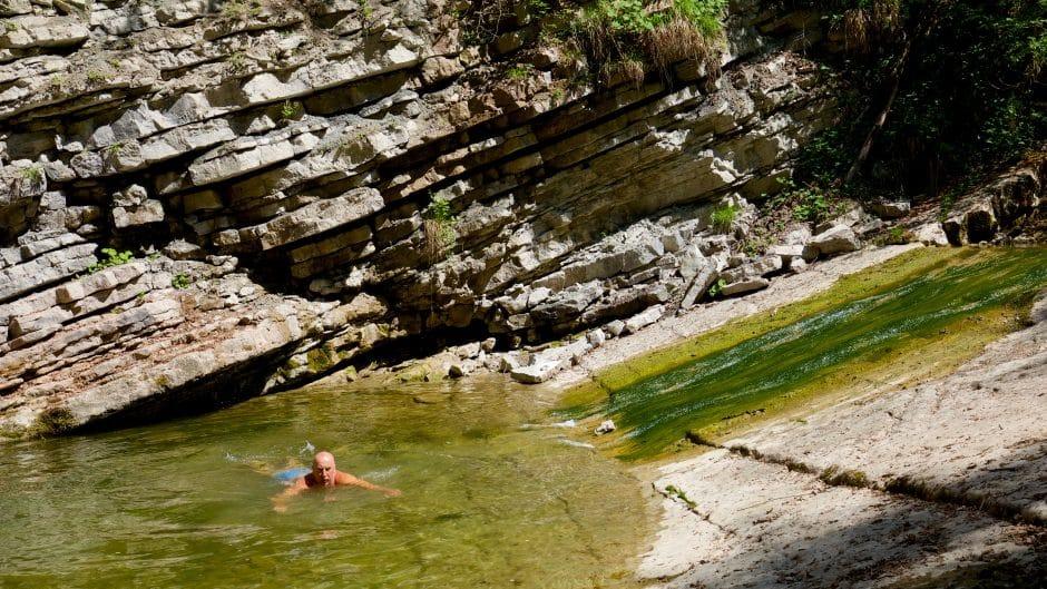 Bei genügend Wassesratnd findet man in der Galsenbachklamm bei Salzburg schöne Gumpen zum Wild-Dippiing als zum wilden baden.