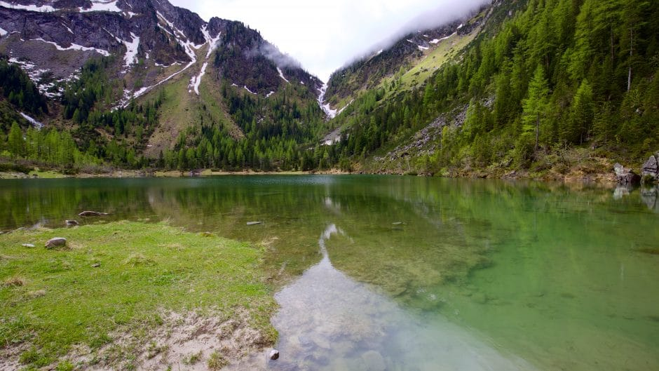 The Schödersee is a periodic lake in the Grossar Valley
