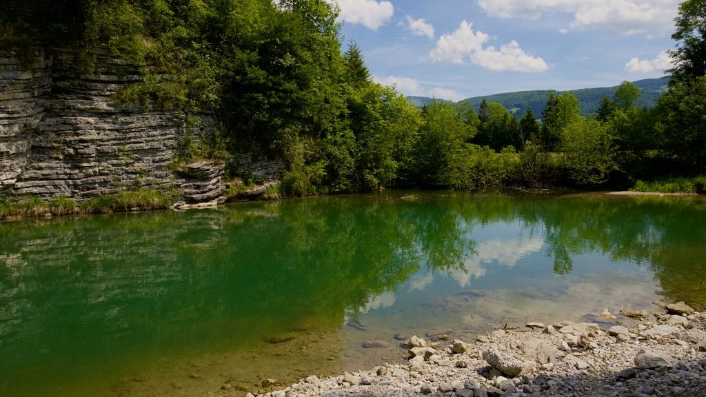 For a wildswimming quickie, the spot in the lower Wiestal at Hallein is quite well suited