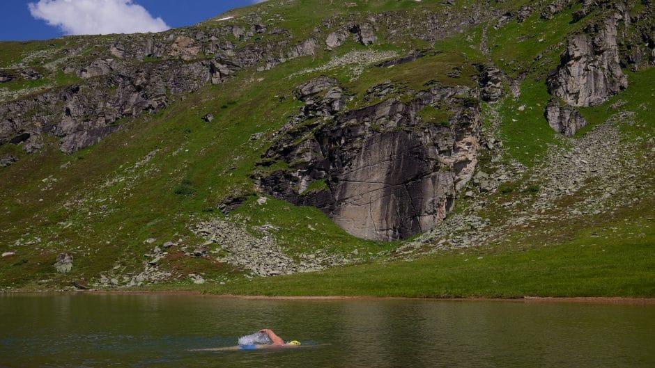 Ein Bergesse wie geschaffen fürs alpine swimming - der obere Bockhartsee
