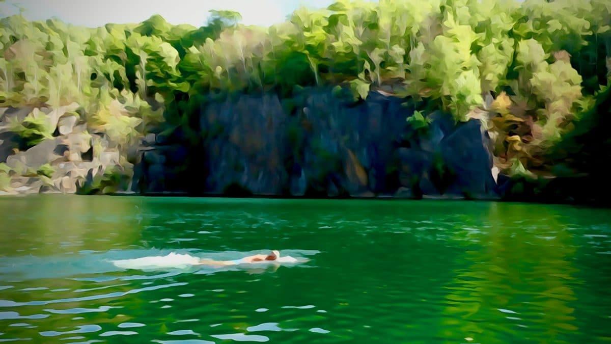 Wildswimming einmal impressionistisch gesehen.