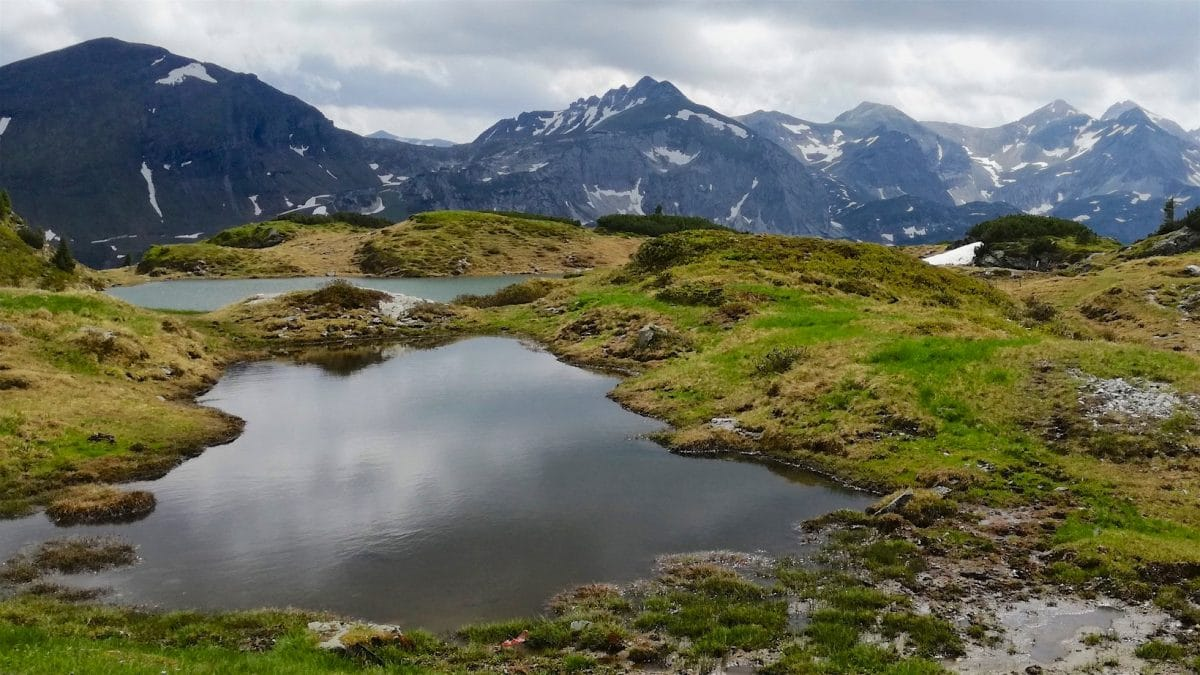 The Krummschnabelsee is a perfect spot for Alpineswimming.