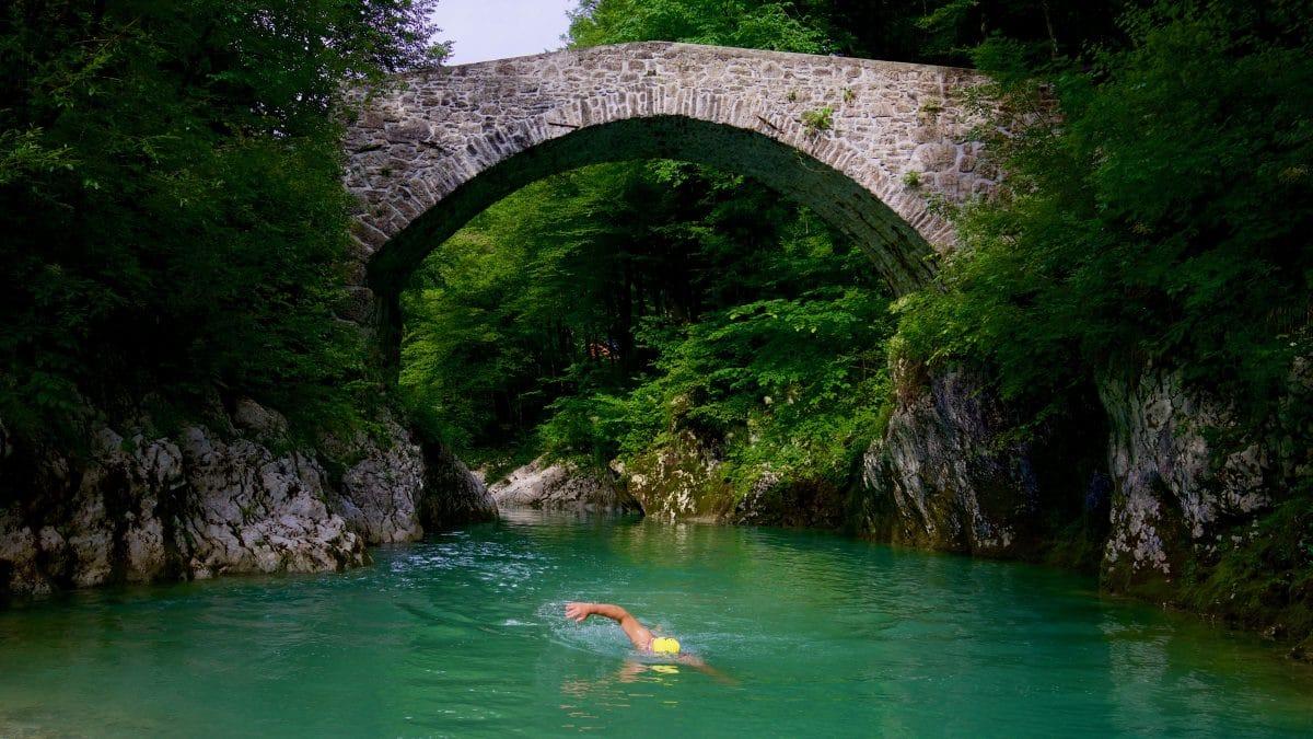 A beautiful Wildswimming-Spot - the Napoleonbridge on the Nadiza.
