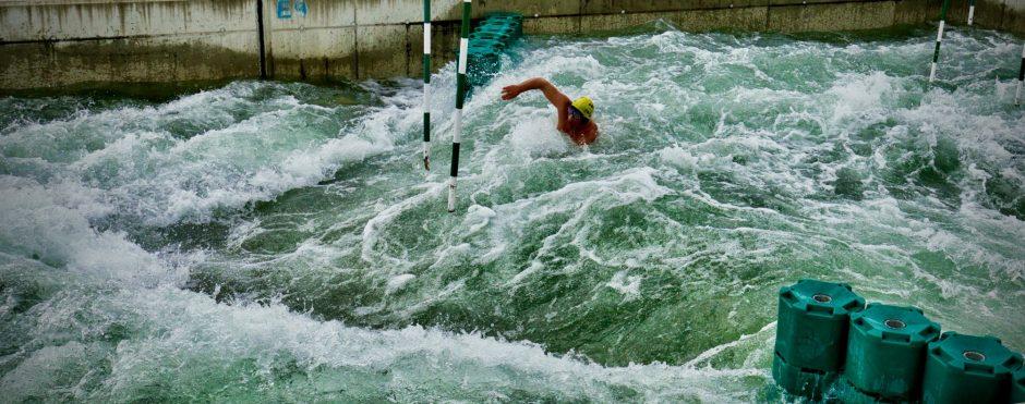 Wildwasser Schwimmen mitten in Wien